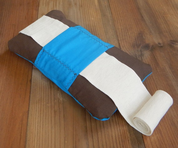 Blue And Brown Heating Pad Fitness Heat Pack Microwave