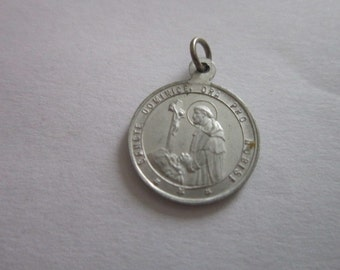 Vintage Catholic Medal Necklace Pendant