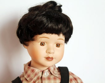 NEW PRICE Vintage doll, bisque face doll, boy doll, collectible toy