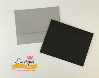 A6 Envelopes for 4 x 6 Photos and Cards, Invitations, Purple, Pack of 20 / A6 envelopes for invitations