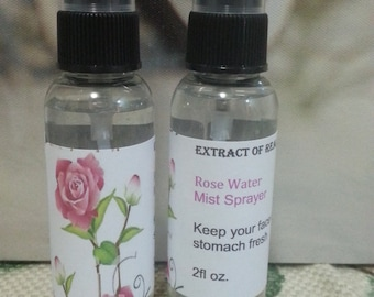 Rose Water 100% Pure ,Extract Of Real Roses Mist Spray Bottle / Face Mist 2oz