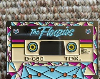 Floozies Cassette Pin