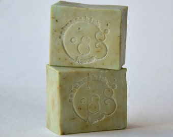Homemade Real  THYME SOAP -  Organic Soap - Traditional  Mediterranean - Handmade Soap Gift for Him - Organic Soap Bar