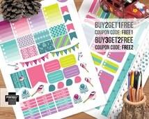 Printable Bird Kit Stickers, Colorful Printable, Erin Condren, Plum Planer, Filofax, Instant Download