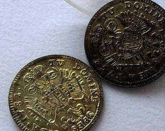 Vintage small coin, golden coin collector