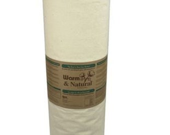 "Warm and Natural Batting, King Size, 124"" x 120"", Cream colored, 2151"
