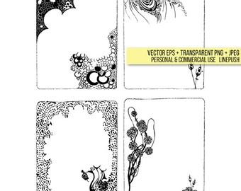 Gothic frames. Borders, art, wedding invitation. Aubrey Beardsley. Vintage Clip art, Scrapbooking, Clipart, Salome Victorian Halloween