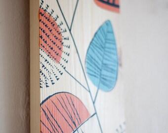 Silkscreen Art wood