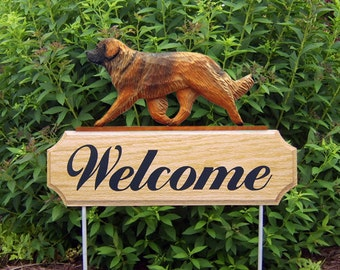 Leonberger Welcome Garden Stake