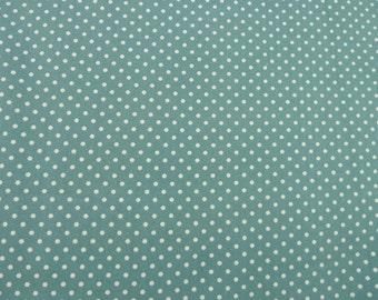 Teal Polka Dot Design Fabric - 100% Cotton Poplin.  For Quilting, Dressmaking, Soft Furnishings, Crafts etc.