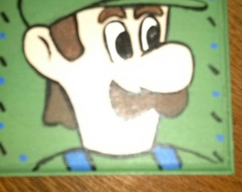 Hand Painted Luigi wooden Trinket box