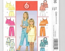 McCall's 5035, Sewing Pattern, Girls' Tops, Shorts and Capri Pants, Teen Size, Summer Tops, Easy Pattern, Size 7-8-10-12, Uncut, New Pattern