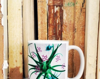 Neurons and caffeine molecules mug