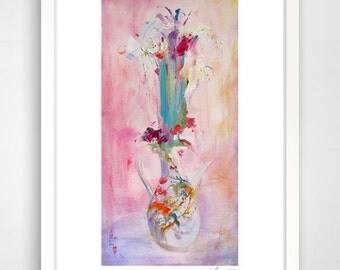 Giclee print,limited edition giclee print,signed by the artist,floral,rose,love never ends,fine art paper,