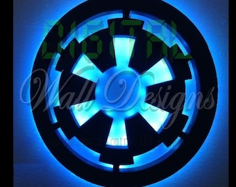 Remote Controlled Starwars IMPERIAL logo night light Wall Art kids children night light