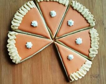 Thanksgiving Fall Pumpkin Pie Sugar Cookies