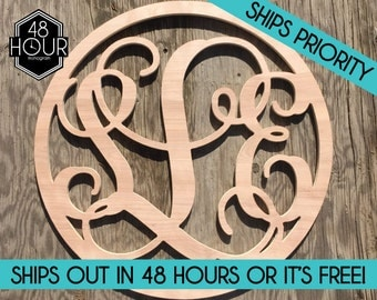 16 3 letter circle wooden monogram unpainted large wooden monogram sale monogram decoration personalized custom wall hanging gifts