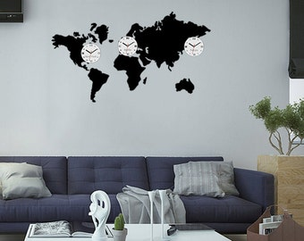 Time zone decals Etsy