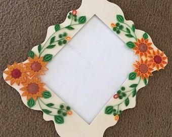 Quilled Sunflower photo frame