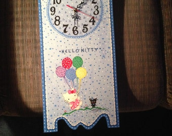 "BLUE ""HELLO KITTY"" Clock"