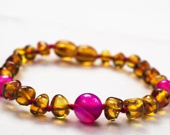 Amber bracelet, Baby Teething Bracelet. Baltic amber. Baby amber bracelet. Anklet. Baby amber anklet, Beaded bracelet. Natural Amber stone