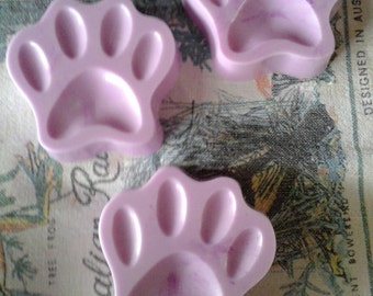 3 Greyhound Paw Print Soaps - set