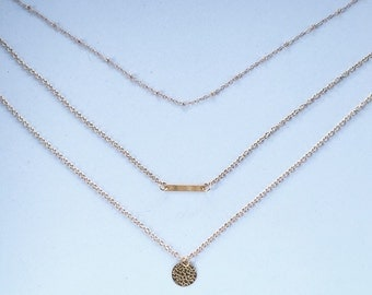 Multi Row Drop Pendent Necklace