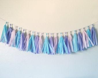 Cotton Candy Tassel Garland | Tassel Garland | Baby Shower Decorations | Baby Shower | Birthday Party Decorations | Birthday Party | Girly