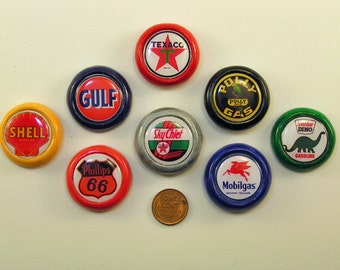 Gas Pump Globe Magnets, set of 8