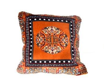Tibetan Carpet Design Cushion Cover.