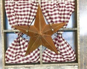 Rustic Window Frame with Rustic Star