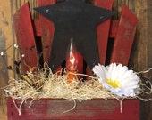 Slant Back Lathe Box with Flicker Candle