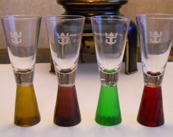 Royal Carribian shot glasses