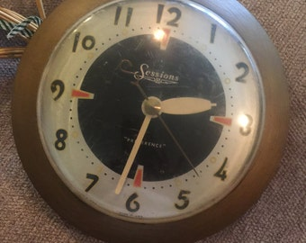 """Electric Clock - Sessions """"Preference"""" Clock - Works Great"""