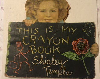 Shirley Temple Coloring Book Vintage 1935 - Saalfield Publishing Company