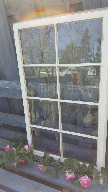 8 Pane Window Frame Vintage Window Frame Antique Eight 8 Pane Modern Farmhouse Country