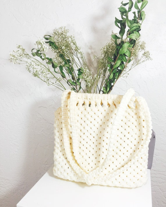 60s Structured Knit Handbag