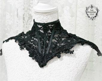 The Royal black lace neck corset-Neck corset-Lace Neck Corset-Elegant Gothic Neck corset-Neck collar-Black lace corset