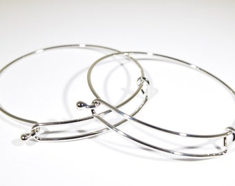 Bangle bracelet | charm bracelet | silver toned bracelet | wire bracelet | charm bangle bracelet | jewelry bracelet |1109