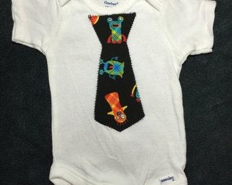 Little Monster Tie Bodysuit or Shirt