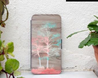 Samsung Galaxy S7 wallet case, wood print Samsung galaxy s7 edge wallet case, case wallet for galaxy s7 edge