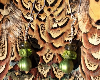 Sweet Green Earrings