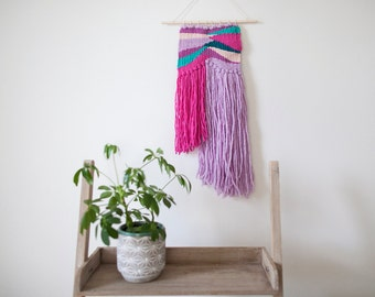 Woven Wall Hanging // Lilac, Pink & Green