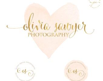 Watercolor Logo Design, Custom Logo Design, Boutque logo, watermark stamp, Business Logo, watercolor logo,  Photography Logo, Boho chic