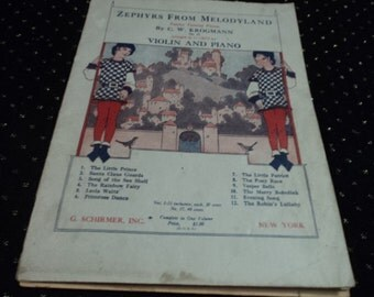 Vintage Sheet Music  Zephyrs From Melodyland ca 1929