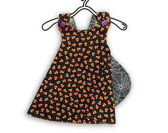 Reversible Baby/Toddler Dress - Candy Corn Cutie