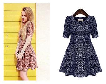 Flower-Print Dress FASH101692