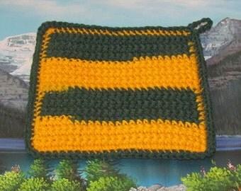 Hand crochet double thick hot pad CHP 008
