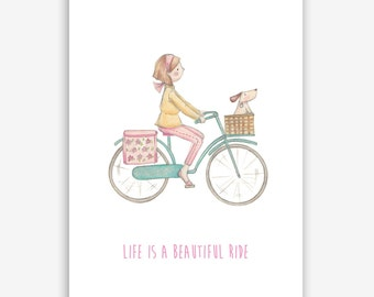 Cute and fun Life is a Beautiful ride Print