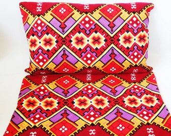 Set of 2 Pillowcases, Embroidered Pillow Covers, Pillow Cases, Hand Embroidered Pillow Covers, Bulgarian Embroidery, Unused, 50s